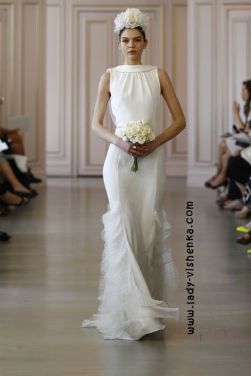Wedding dress med dekket skuldre Oscar De La Renta