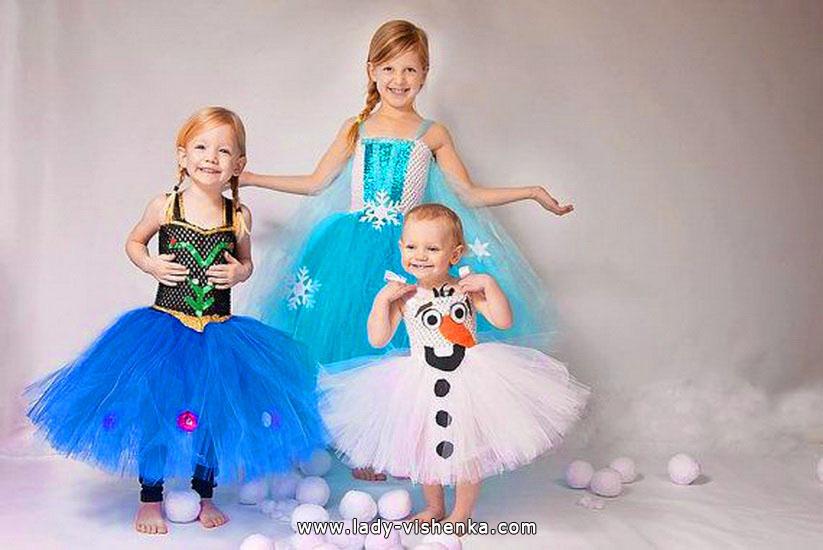 15. Kostymer for små jenter fra 1 år til 3 år