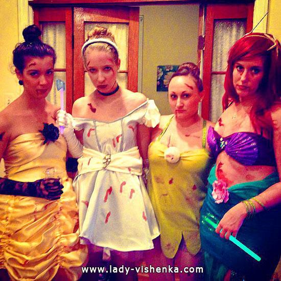 Zombier på Halloween - Disney Prinsesse