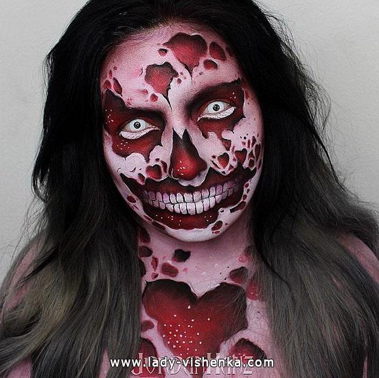 7. Halloween sminke