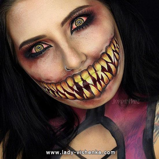 9. Halloween sminke