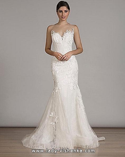 Blonder mermaid wedding dress med tog - Liancarlo