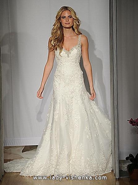 Blonder mermaid wedding dress med tog - Mori Lee