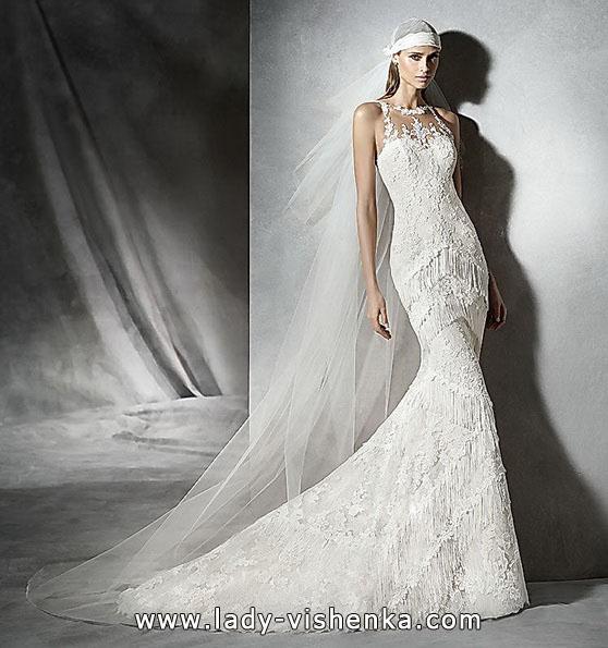 Blonder brudekjole mermaid - foto - Pronovias