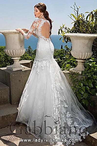 Blonder mermaid wedding dress med tog - Gabbiano