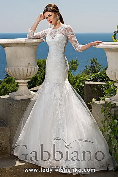 Blonder brudekjole fisk med tog - Gabbiano