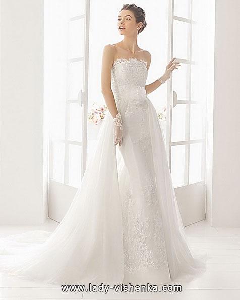 Blonder mermaid wedding dress med tog