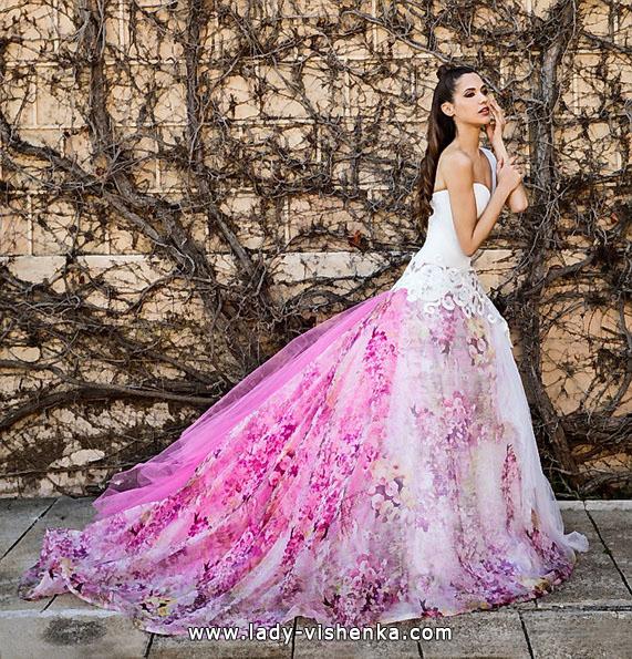 Rosa brudekjole 2016 - Jordi Dalmau
