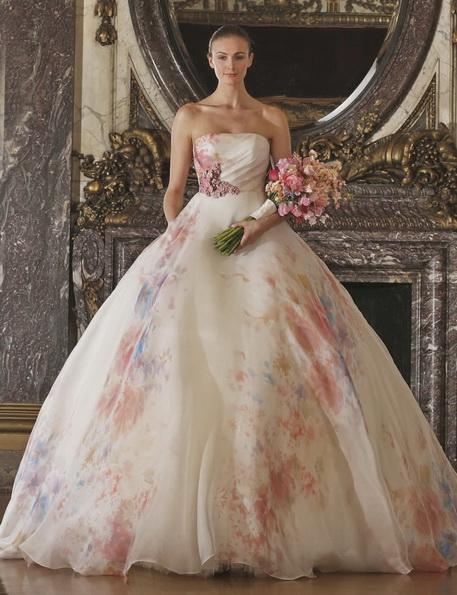 Wedding dress med rosa Angele Keveza