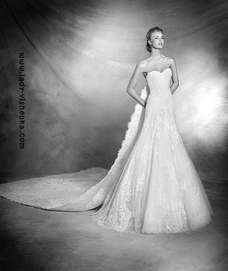 brudekjole og slør Pronovias