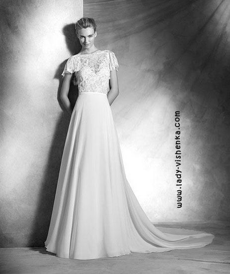 Wedding dress med dekket skuldre Pronovias