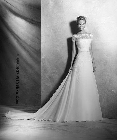 Wedding kjoler med sweep train Pronovias