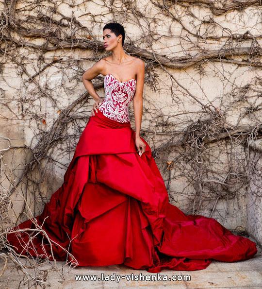 Nydelig ball kjole brudekjoler 2016 - Jordi Dalmau