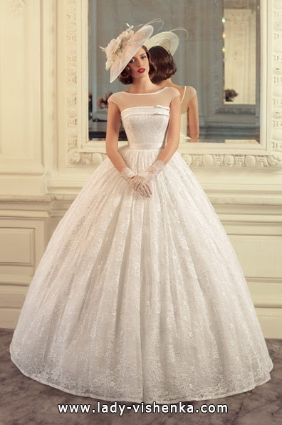 Frodige blonder brudekjole 2016 - Tatiana Kaplun