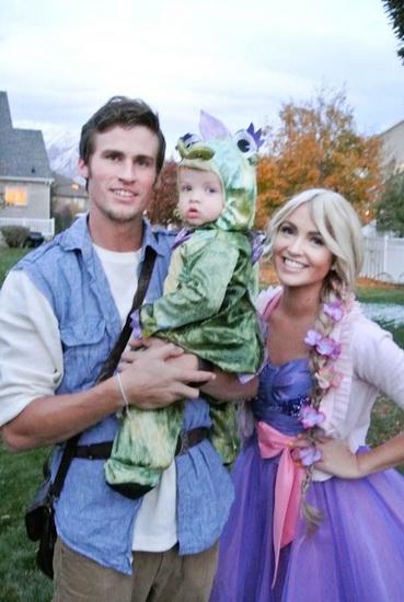Rapunzel for Halloween med familien