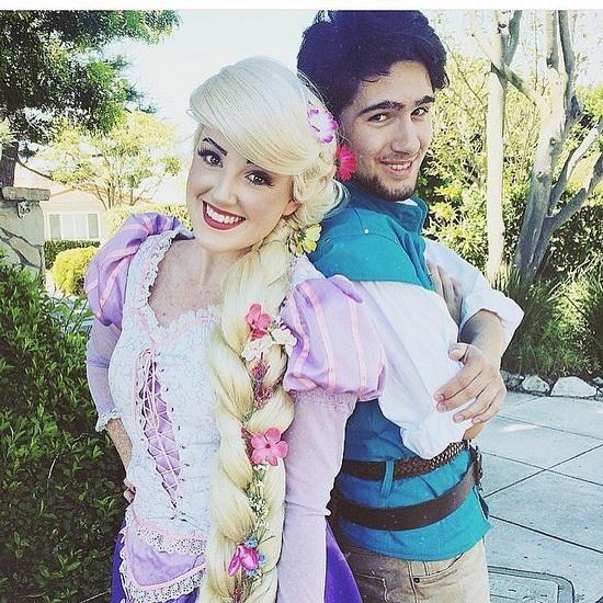 Passer Rapunzel og Flynn for Halloween bilde