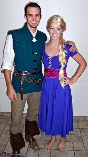 Rapunzel og Flynn kostymer for par på Halloween