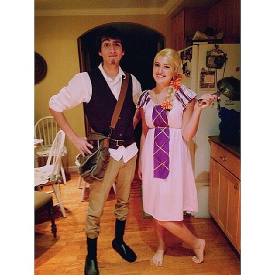 En Rapunzel kostyme for Halloween - lett