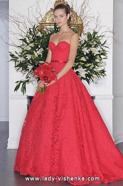 Rød brudekjole 2016 - Angele Keveza
