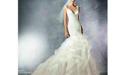 Havfrue sateng brudekjole