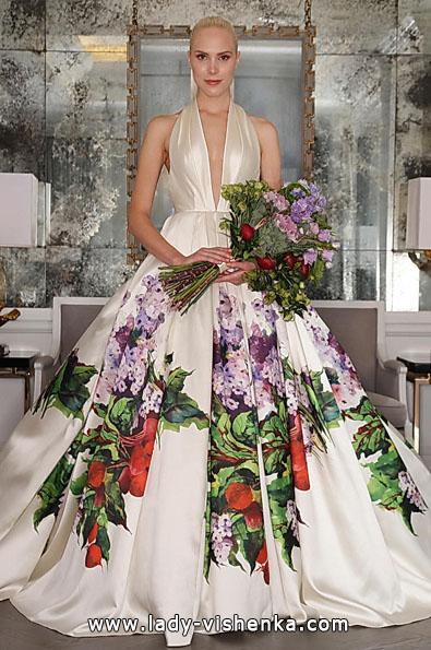 brudekjole i sateng bilde 2016 - Angele Keveza