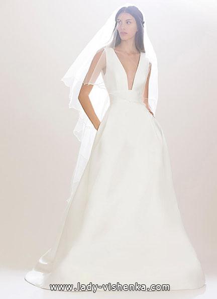 brudekjole i sateng 2016 - Carolina Herrera