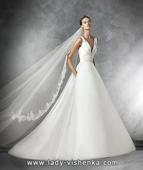 brudekjole i sateng 2016 - Pronovias