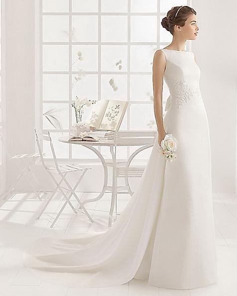 Sateng brudekjole Aire Barcelona 2016