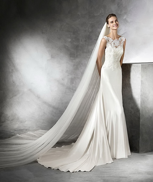 Vakre sateng-brudekjole - Pronovias 2016
