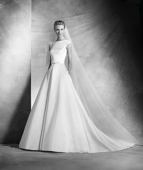 Klassisk satin-brudekjole - Pronovias 2016