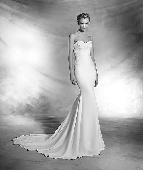 Sateng-brudekjole - Pronovias nyheter 2016