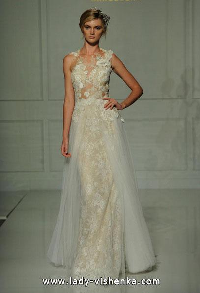 Kolonne brudekjole med blonder 2016 - Pronovias