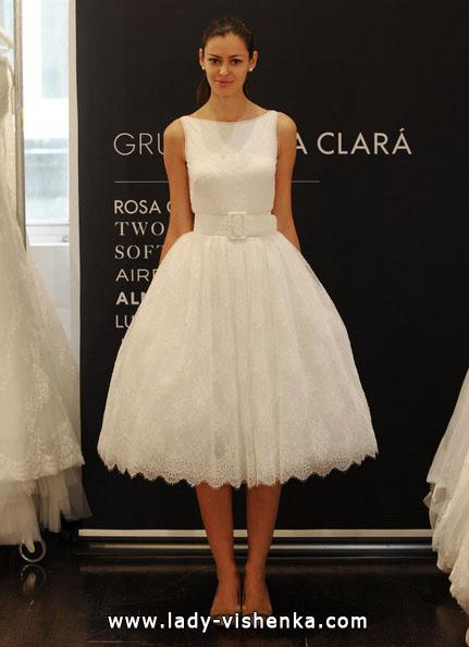 en Kort Luksus Brudekjoler 2016 - Rosa Clará