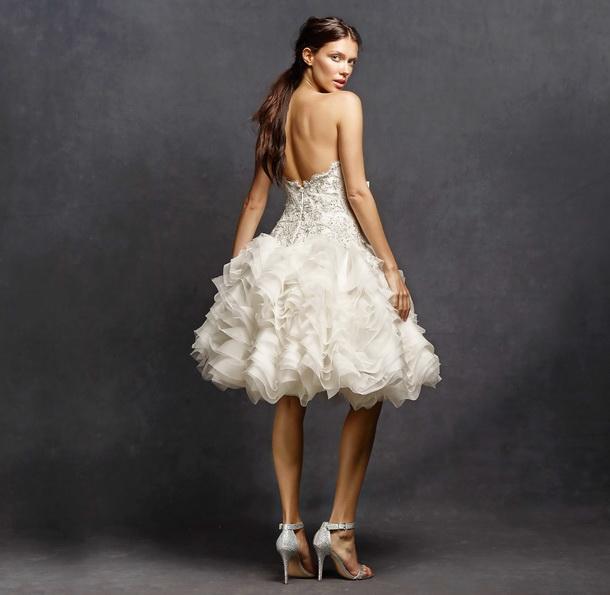 Kort brudekjole med fluffy skjørt 2016 - Isabelle Armstrong