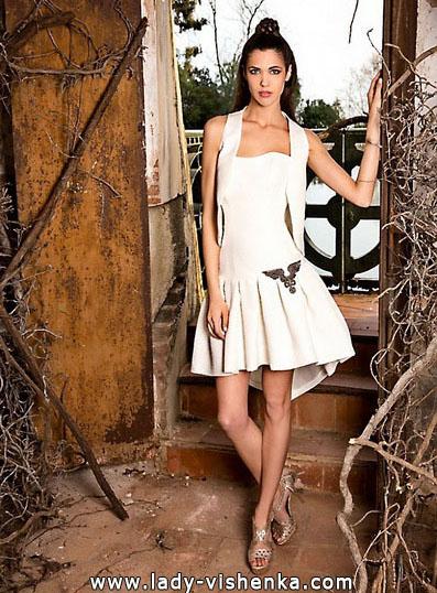 Korte bryllup kjole med Cape 2016 - Jordi Dalmau