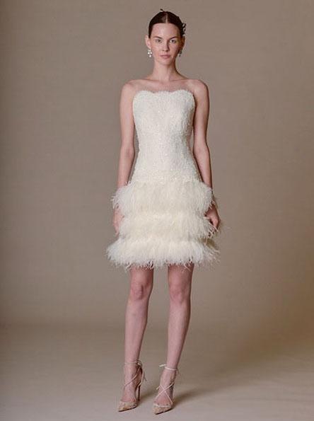 Bryllup kjole med korte skjørt 2016 - Marchesa