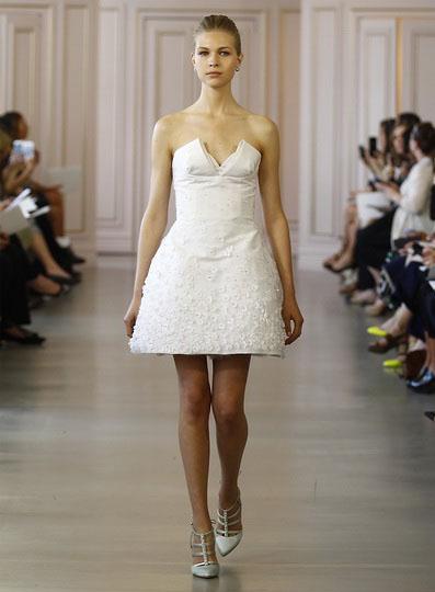 Korte brudekjoler 2016 - Oscar de la Renta