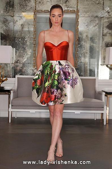 Rødt kort brudekjole 2016 - Angele Keveza