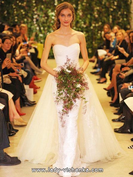 Enkel hvit brudekjole - Carolina Herrera