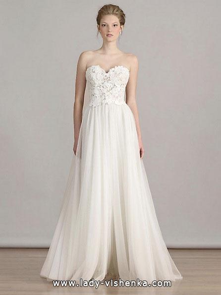 Enkel hvit brudekjole Liancarlo