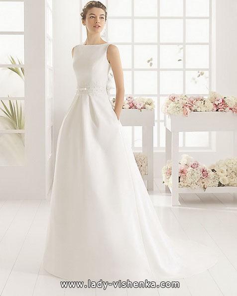 Enkel hvit brudekjole Aire Barcelona