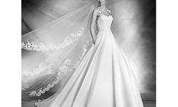 Brudekjole med sateng skjørt