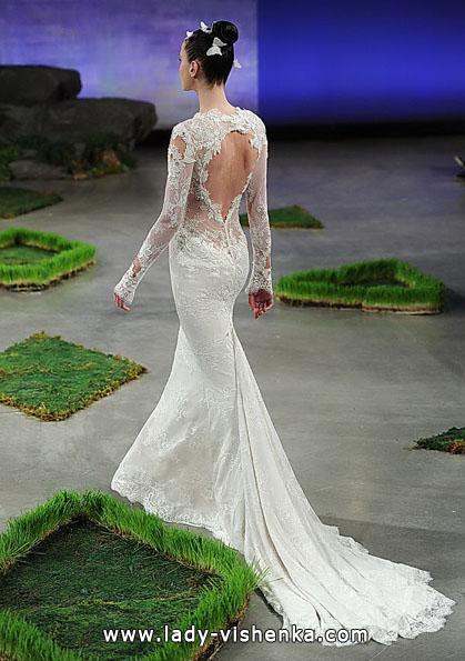 Wedding kjoler med blonder ermene 2016 - Ines Di Santo