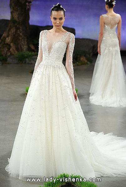 Wedding kjoler med blonder ermer - Ines Di Santo