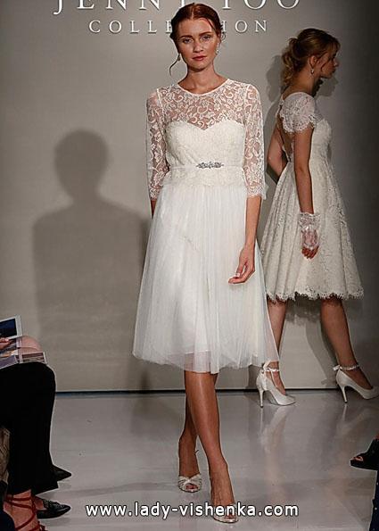Wedding kjoler med blonder ermer - Jenny Yoo