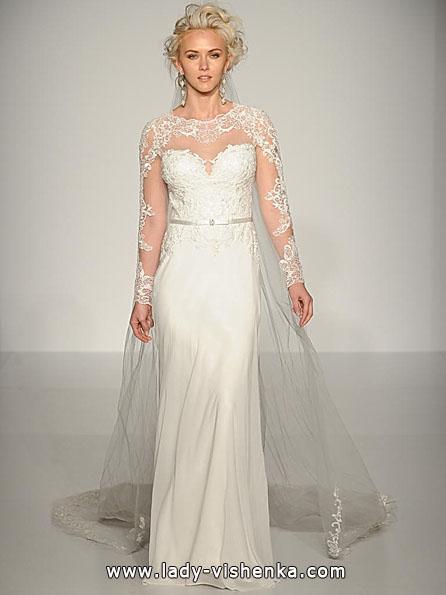Wedding kjoler med blonder ermer - Maggie Sottero