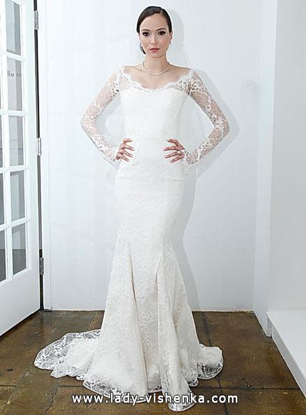 Wedding kjoler med blonder ermer - Pamella Roland