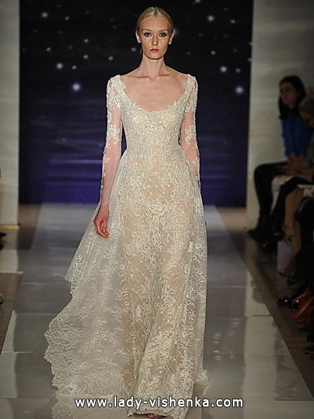 Wedding kjoler med blonder ermene 2016 - Reem Acra