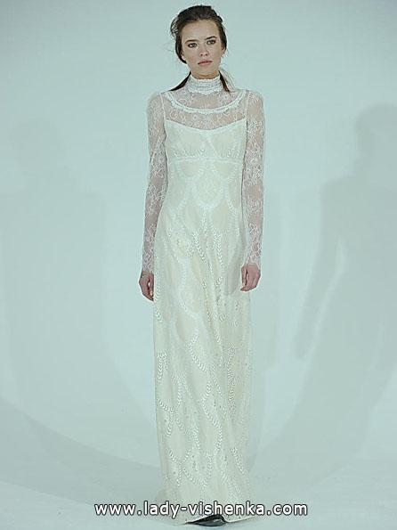 Wedding kjoler med blonder ermene 2016 - Claire Pettibone