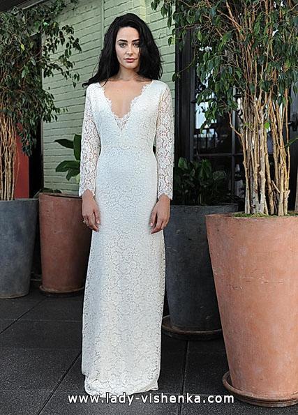 Wedding kjoler med blonder ermer - Sarah Syv
